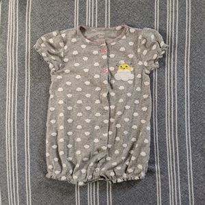 Carter's 24m Grey Rainbow Button Up Romper